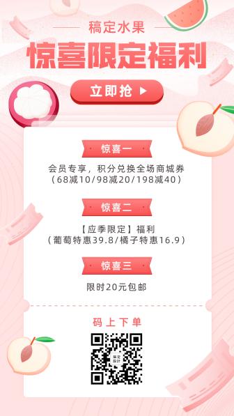 餐饮美食/水果促销/清新卡通/手机海报