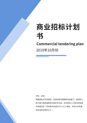 蓝色商业招标计划书