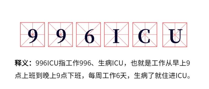 热词996ICU流行新词公众号首图