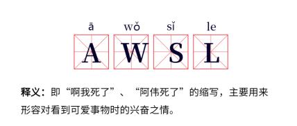 七夕情人节/热词/awsl/流行词语/网路新词公众号首图