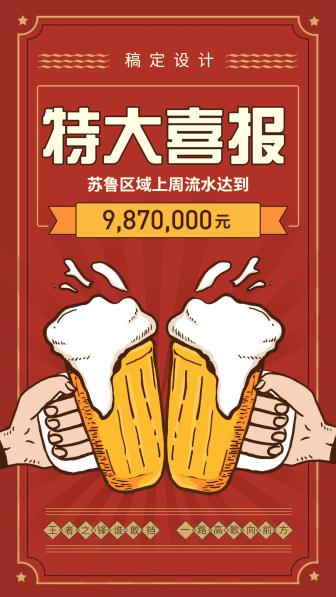 特大喜报/喜庆复古/手机海报