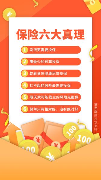 扁平清新保险宣传海报