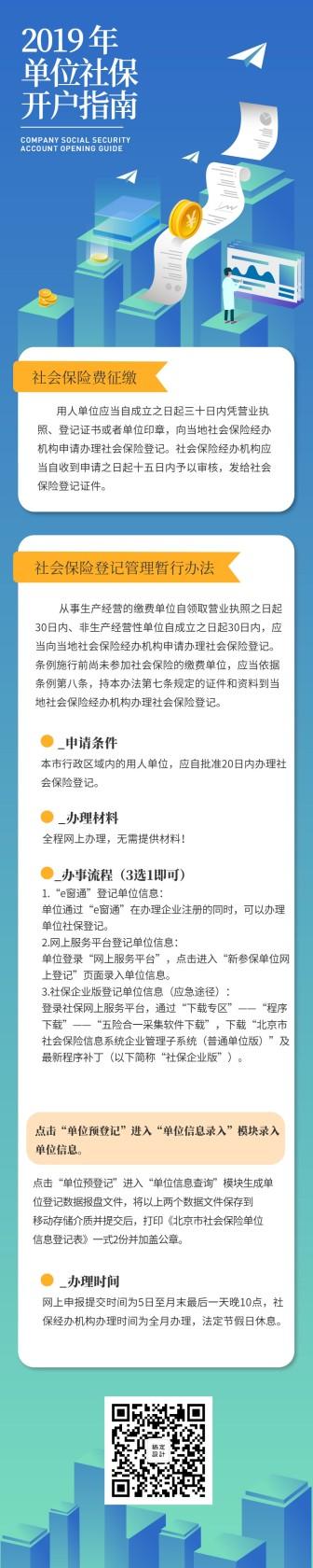 2019年单位社保开户指南教程金融文章长图