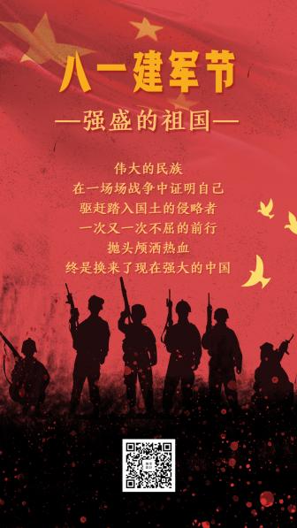 八一建军节/81/军人手机海报