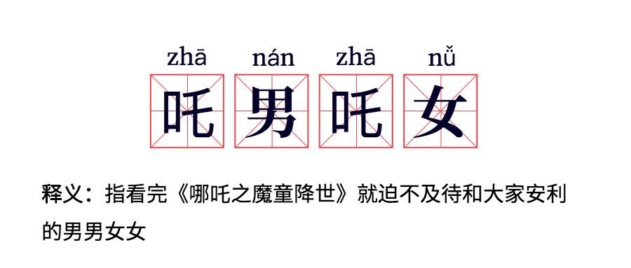 电影哪吒/热词/流行词语/网路新词公众号首图