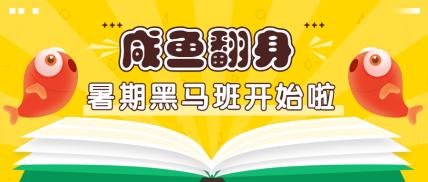 锦鲤/咸鱼/暑期公众号首图
