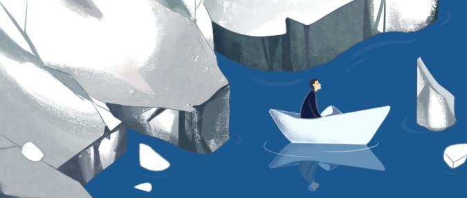 孤独负面情绪手绘插画公众号首图