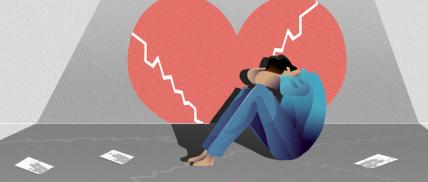 失恋情感话题手绘插画公众号首图