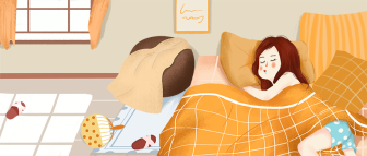 插画/睡觉/懒公众号首图
