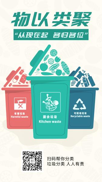垃圾分类热点手机海报