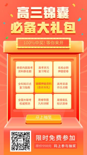 高三锦囊/抽奖/手机海报