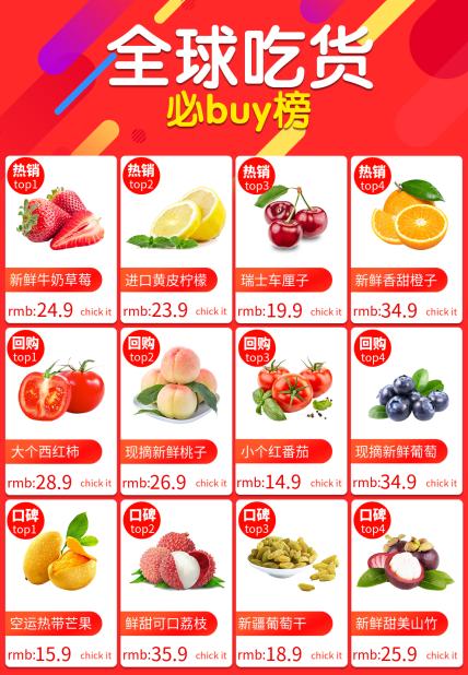 红色/美食/热卖榜单