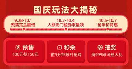 国庆节活动通知喜庆电商店铺公告海报banner