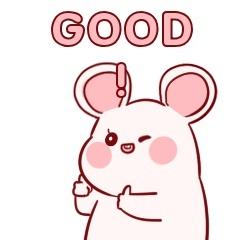 鼠年小老鼠点赞卡通手绘可爱简约动态表情包