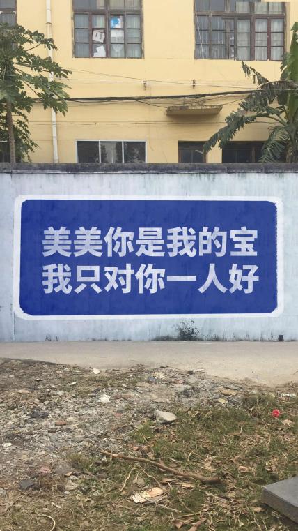农村大字广告二手机海报