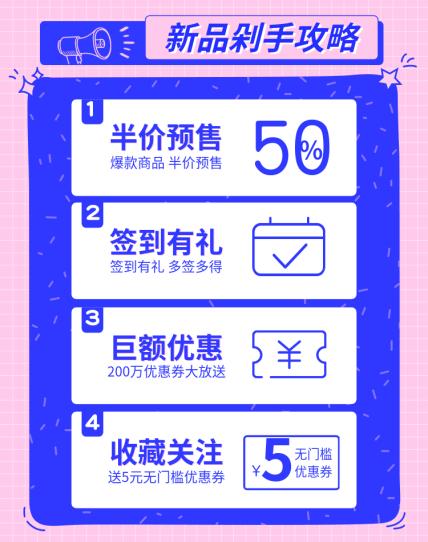 上新/剁手攻略活动海报