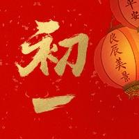 初一红金喜庆春节新春新年公众号次图