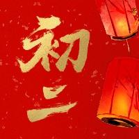 初二红金喜庆春节新春新年公众号次图