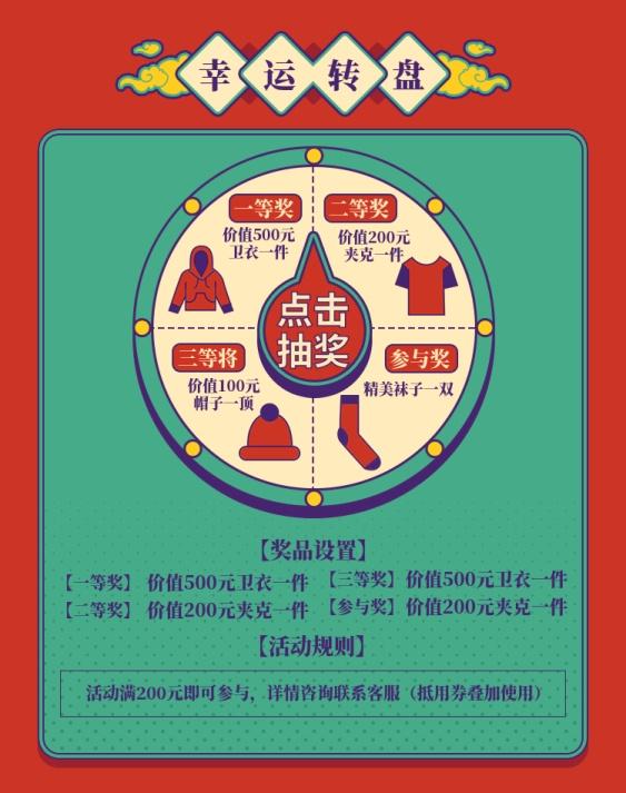年货节/春节/抽奖转盘/店铺活动/创意海报banner