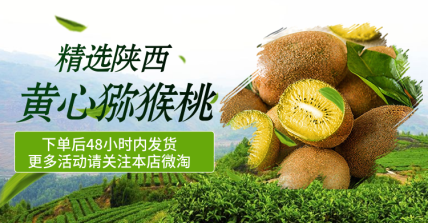 食品/生鲜/猕猴桃海报