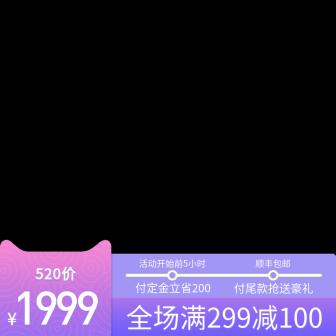 520活动满减主图图标