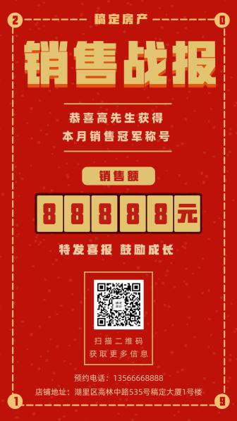房地产/喜庆/销售喜报/手机海报