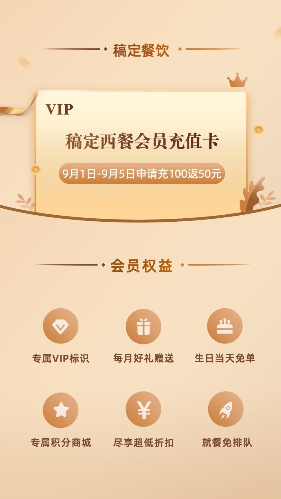 餐饮美食/会员福利/时尚简约/手机海报